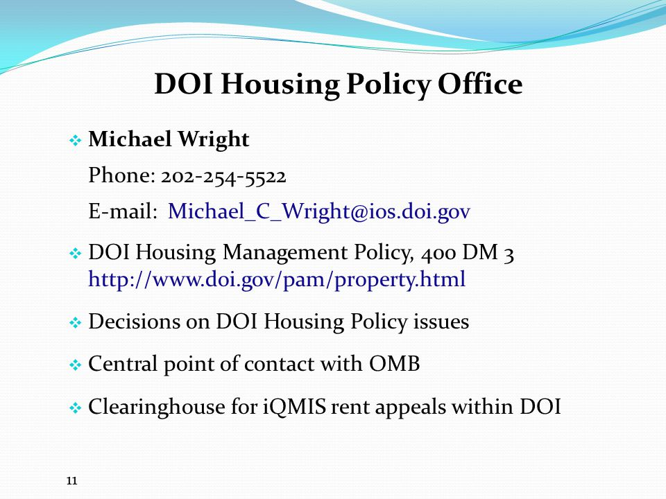 DOI Housing Policy Office