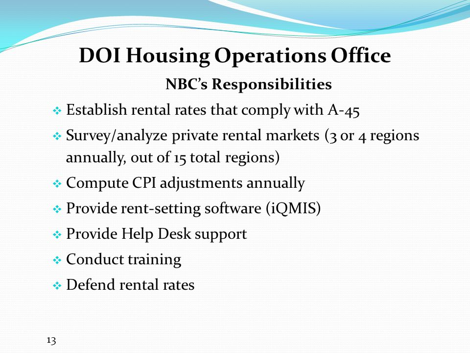 DOI Housing Operations Office