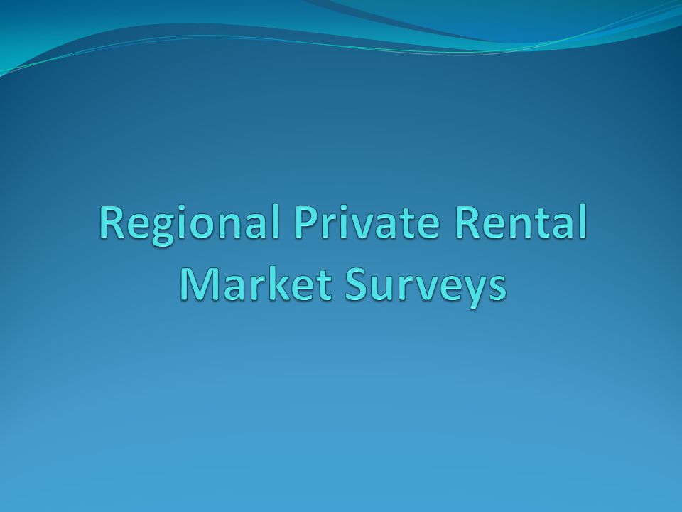 Regional Private Rental Market Surveys