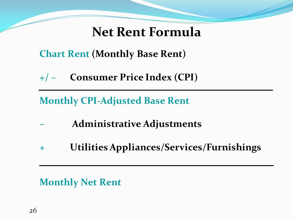 Net Rent Formula Chart Rent (Monthly Base Rent)
