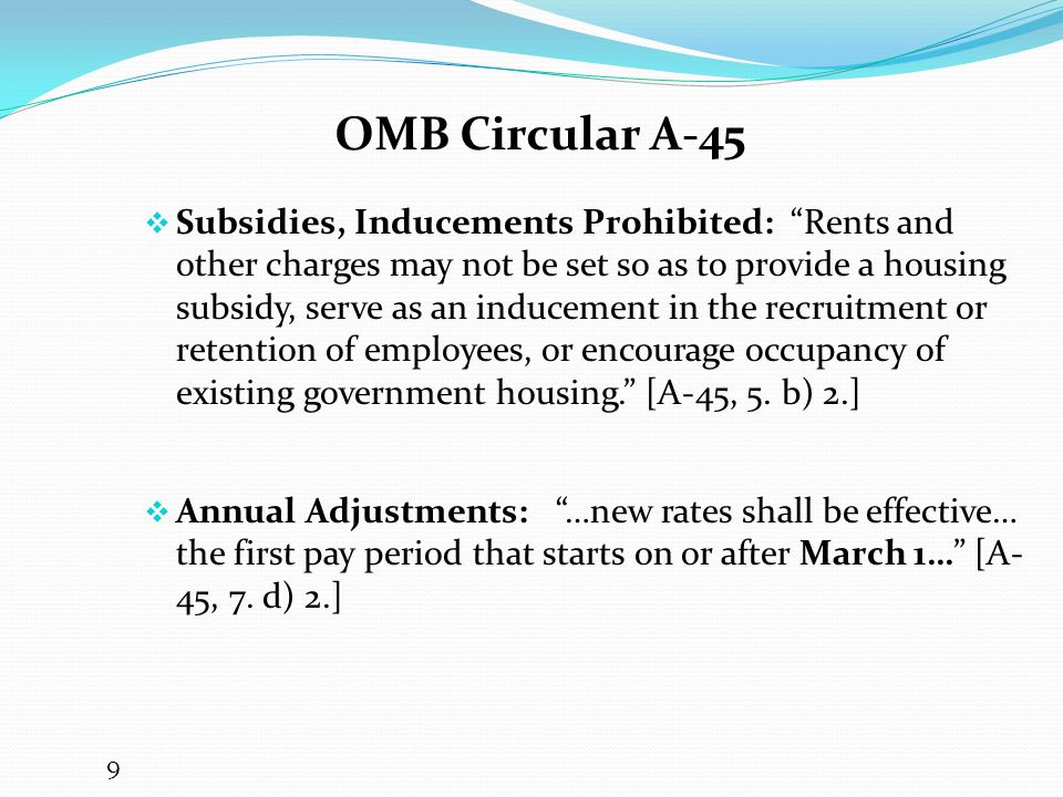 OMB Circular A-45
