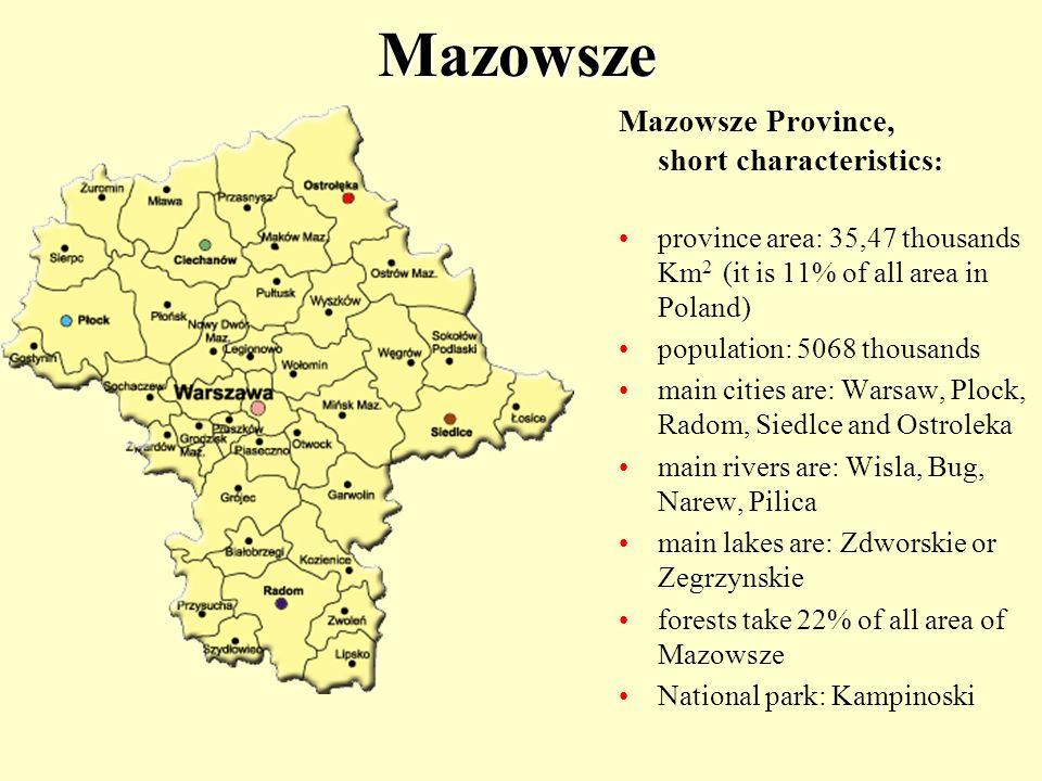 Mazowsze Mazowsze Province, short characteristics: