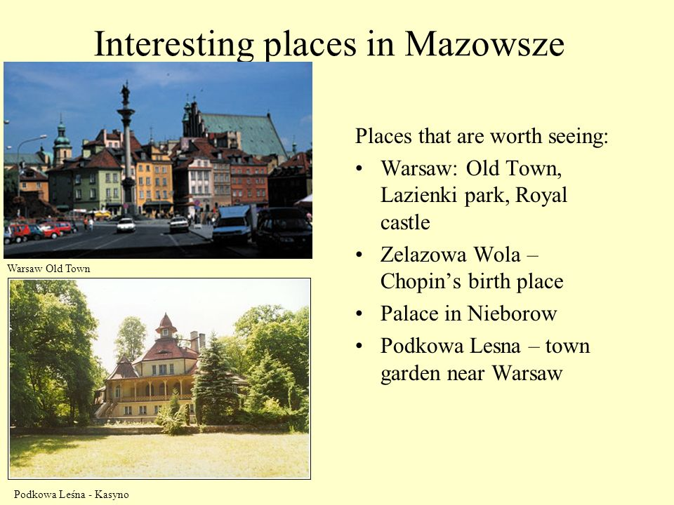 Interesting places in Mazowsze