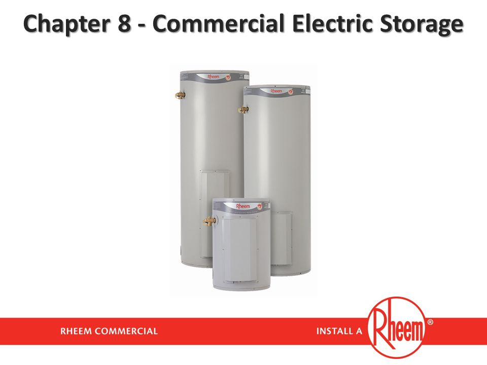 Chapter 8 - Commercial Electric Storage