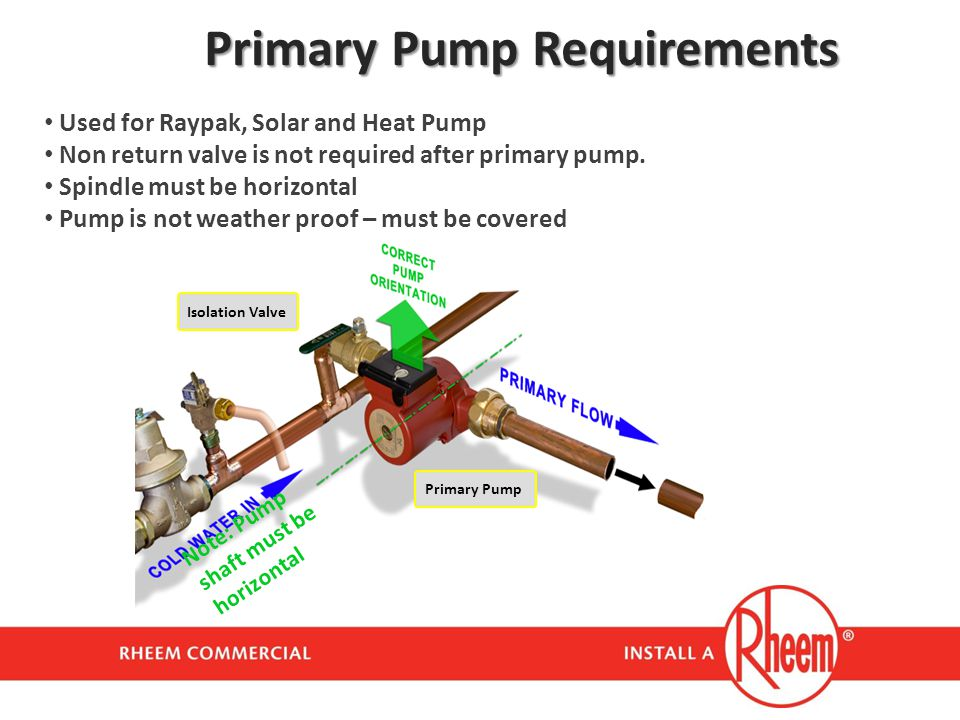 Primary Pump Requirements