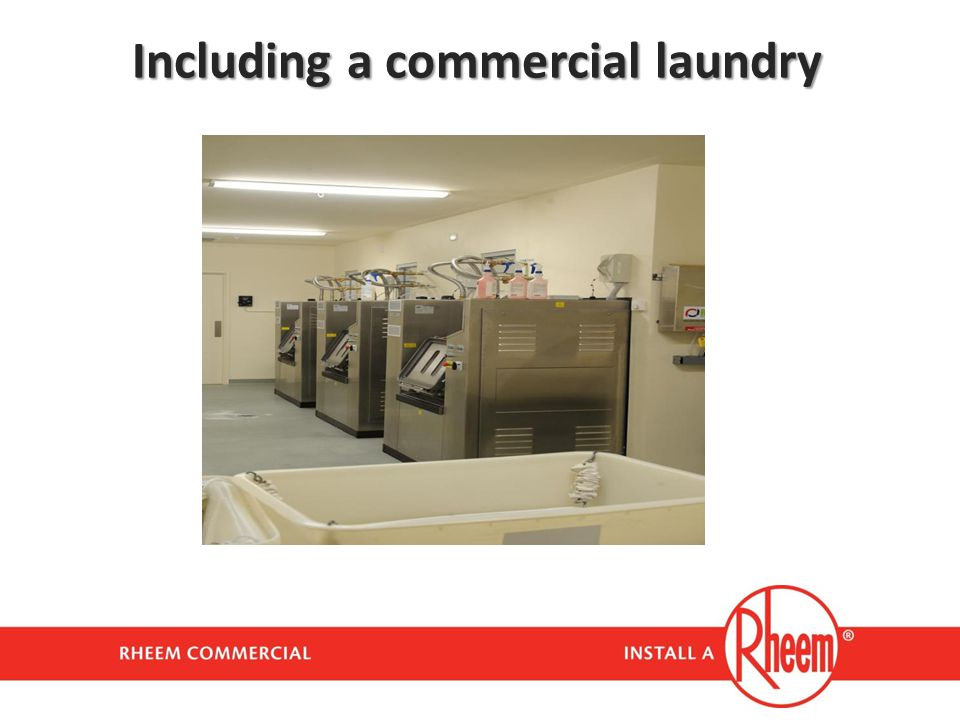 Including a commercial laundry