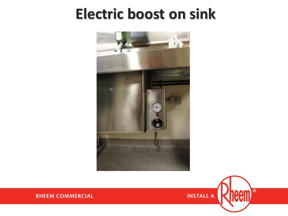 Electric boost on sink