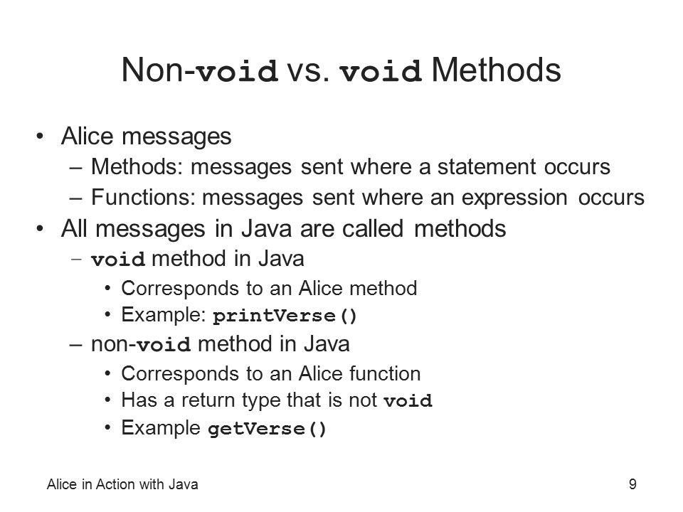 Non-void vs. void Methods