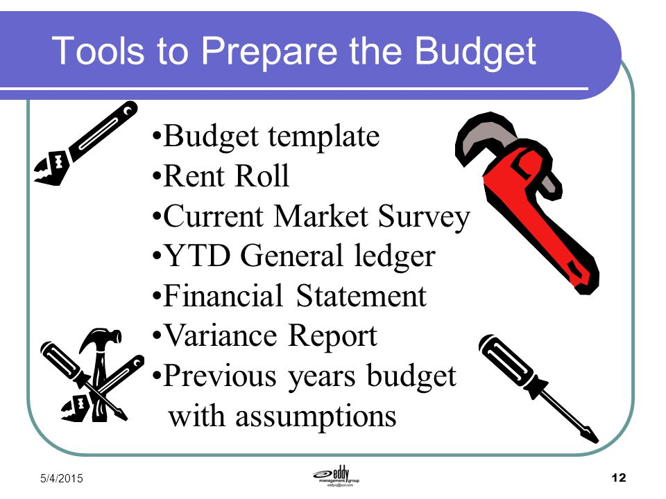 Tools to Prepare the Budget