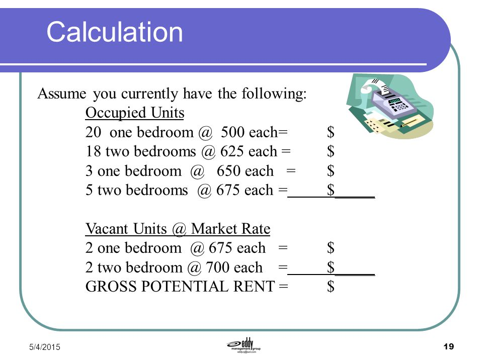 Gross Potential Rent Calculation