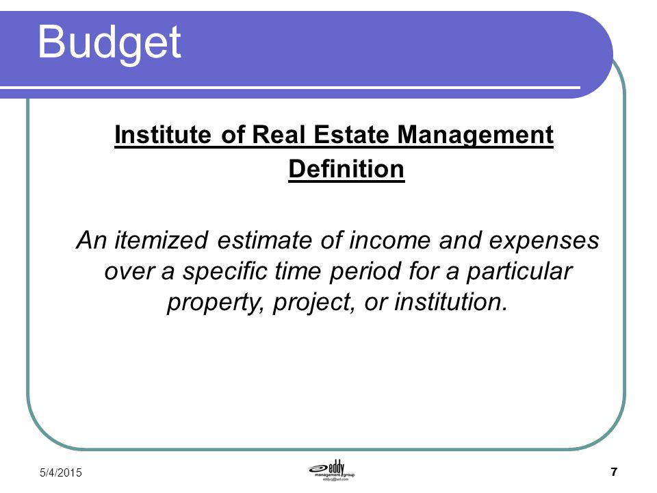 OTHER DEFINITIONS OF BUDGET