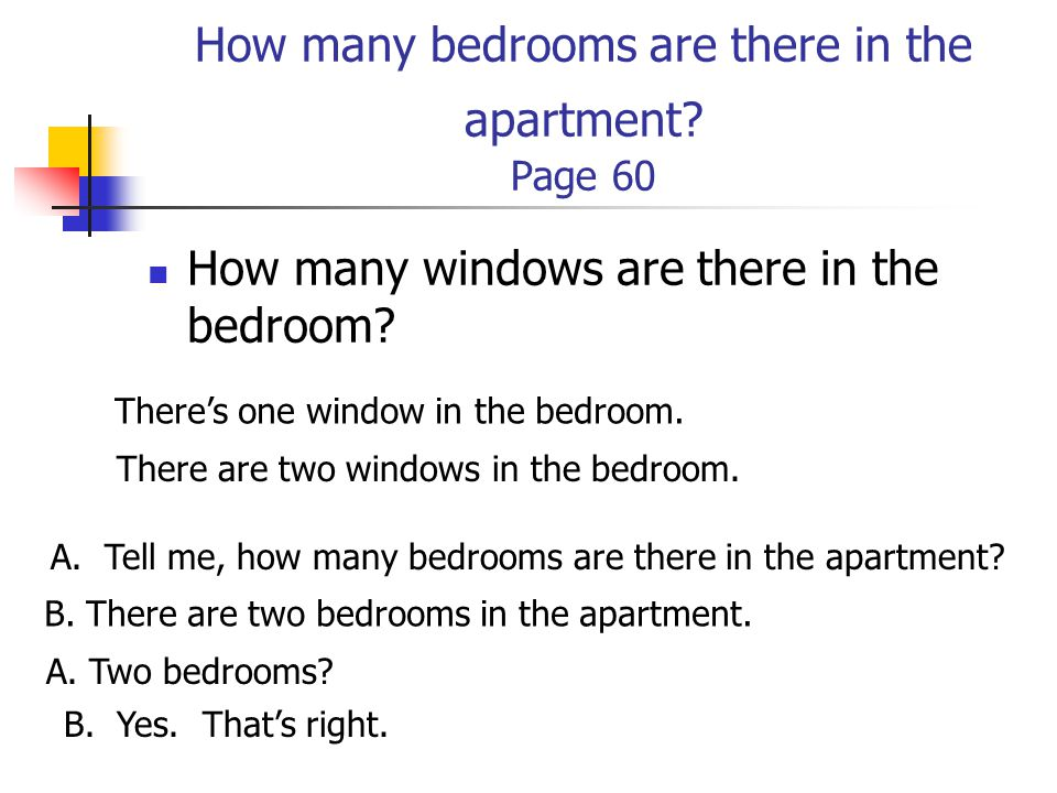 How many bedrooms are there in the apartment Page 60
