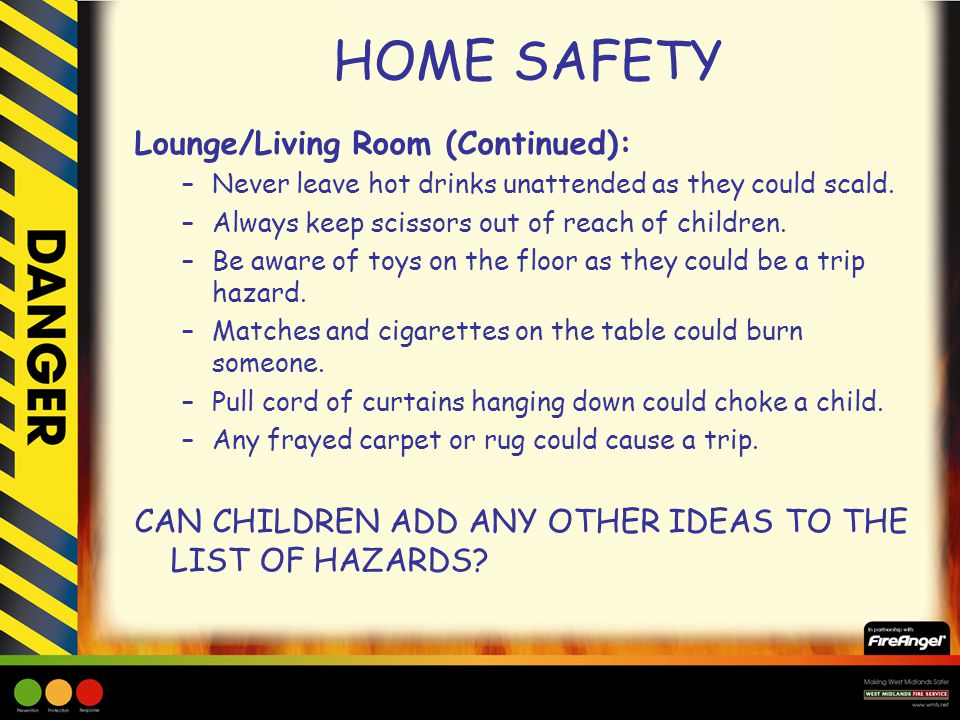 HOME SAFETY Lounge/Living Room (Continued): Part 81