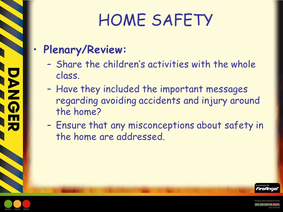 HOME SAFETY Plenary/Review: