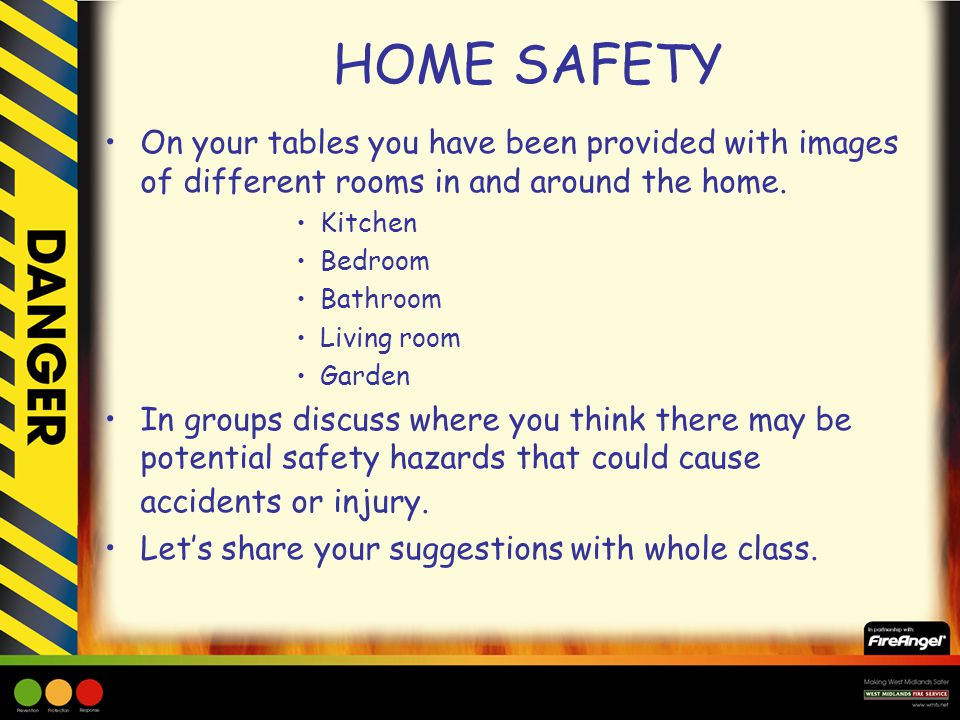 Home safety ppt video online download for Safety around the house