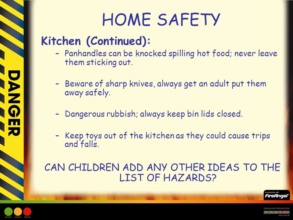 CAN CHILDREN ADD ANY OTHER IDEAS TO THE LIST OF HAZARDS