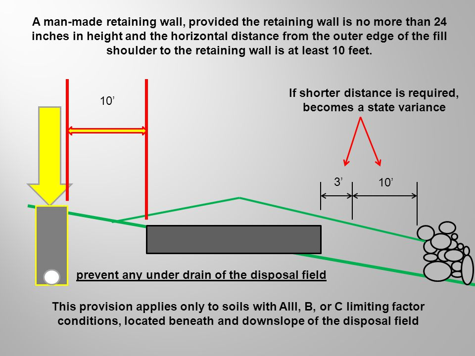 If shorter distance is required, becomes a state variance