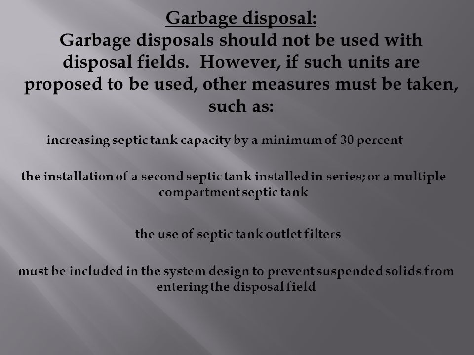 the use of septic tank outlet filters