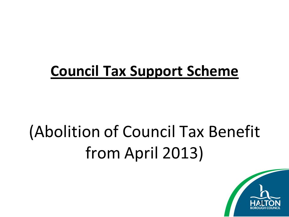 Council Tax Support Scheme (Abolition of Council Tax Benefit from April 2013)