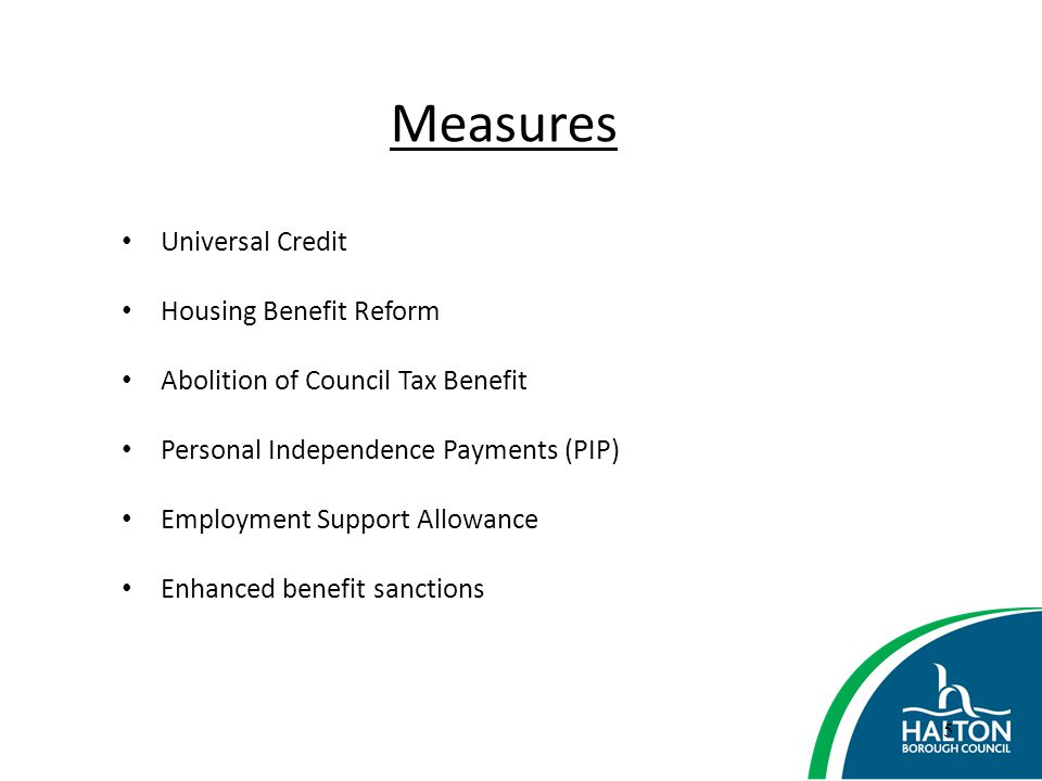 Measures Universal Credit Housing Benefit Reform