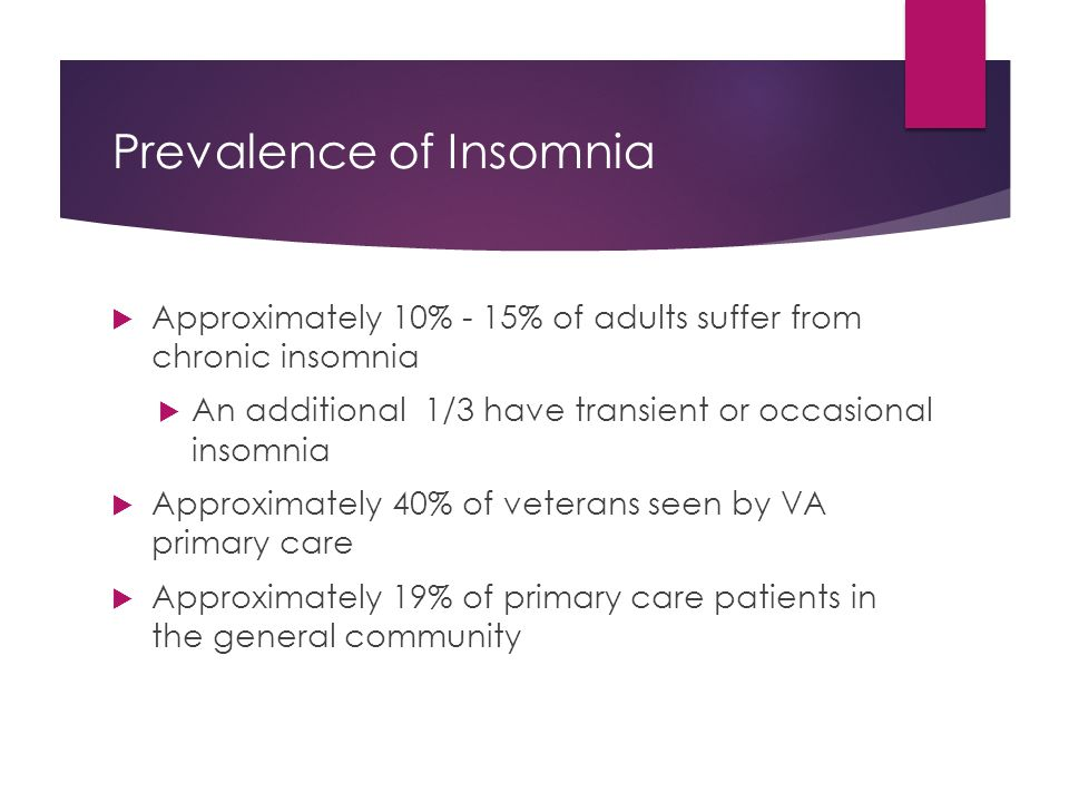Prevalence of Insomnia