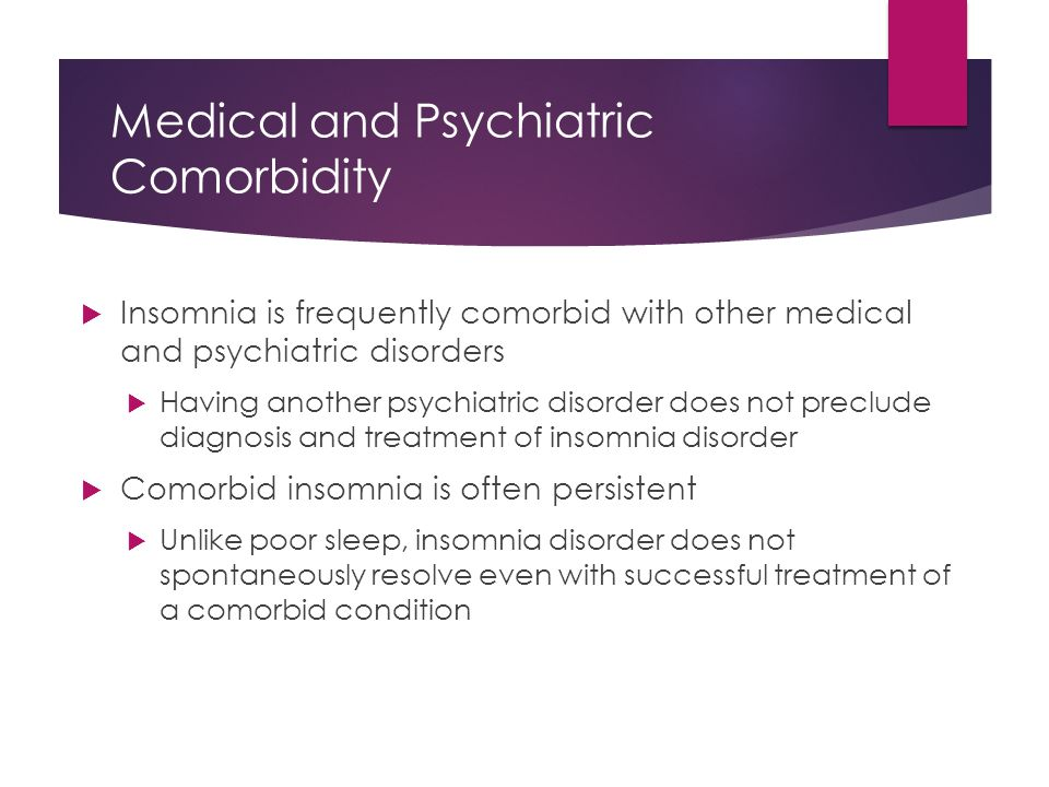 Medical and Psychiatric Comorbidity