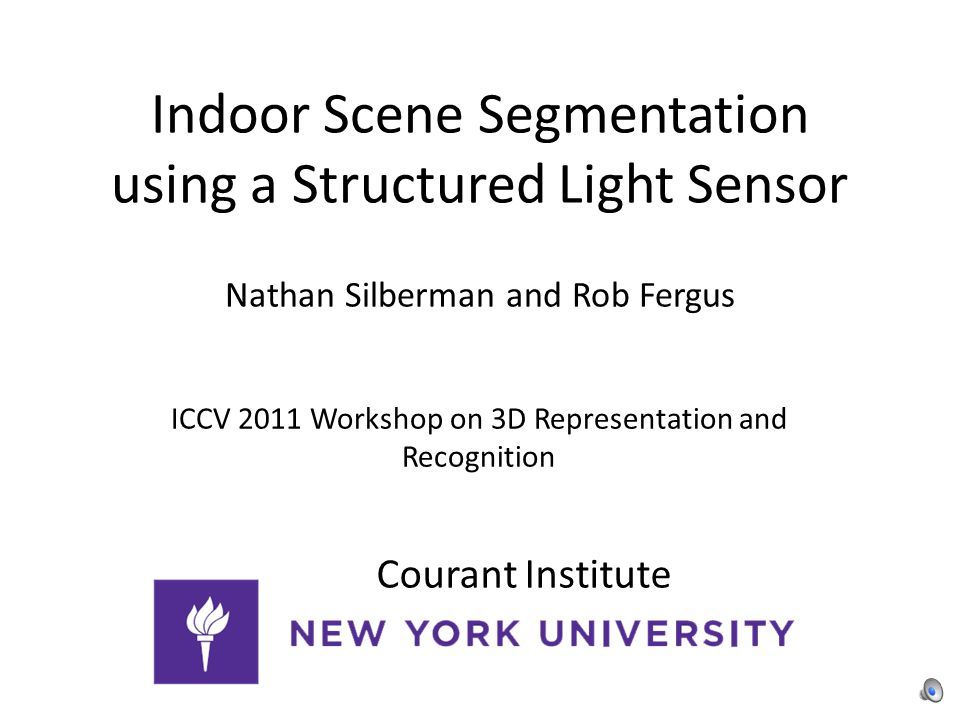 Indoor Scene Segmentation using a Structured Light Sensor