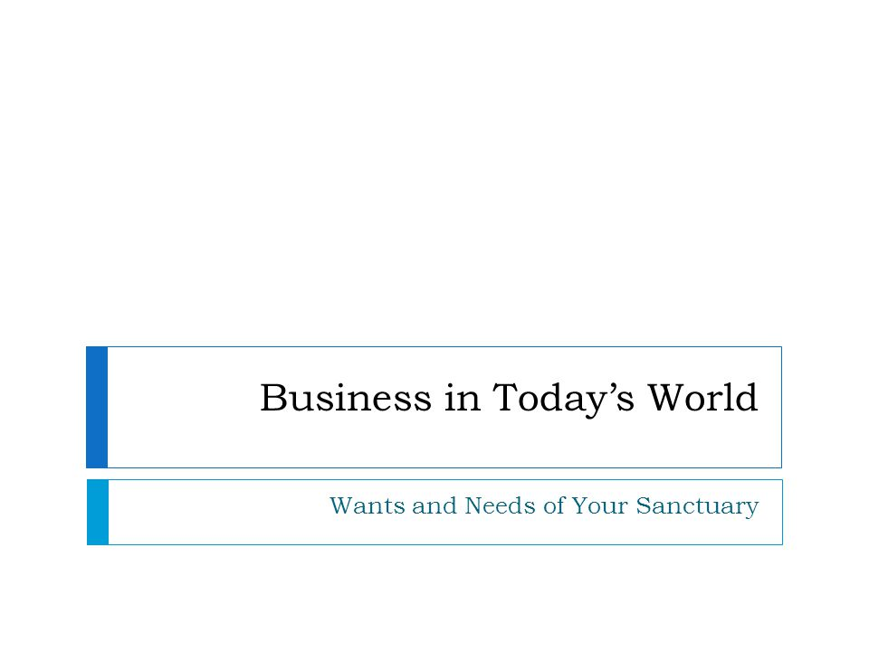 Business in Today's World