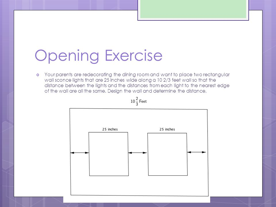 Opening Exercise