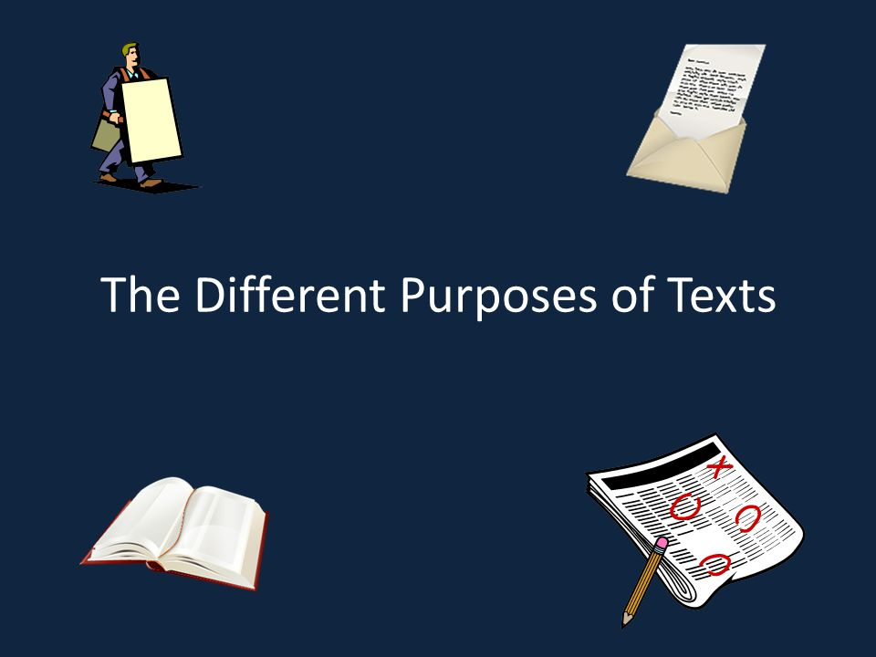 The Different Purposes of Texts