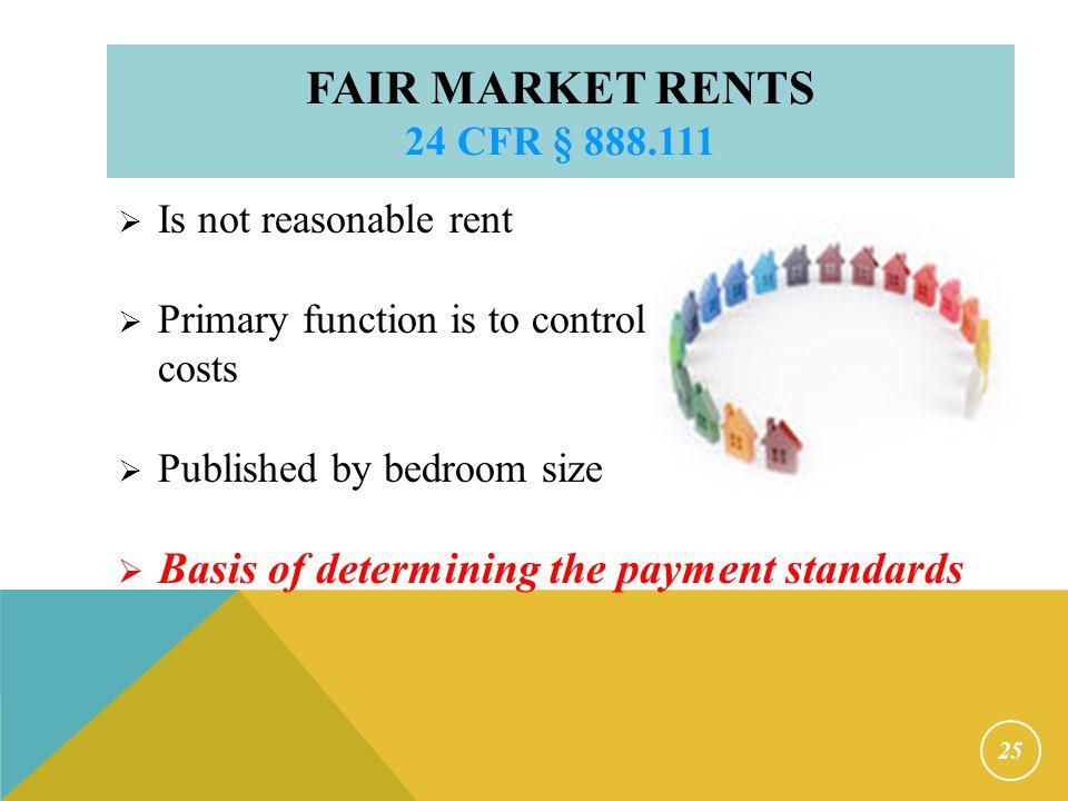 Payment Standards 24 CFR § 982.402