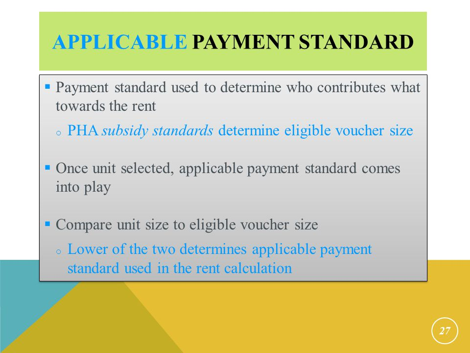 Applicable Payment Standard