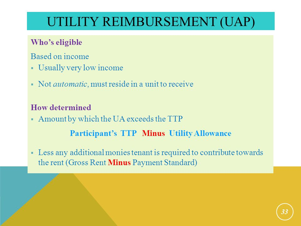 Change in Utility Responsibility