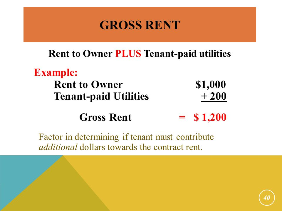 Affordability Only applies to new contracts Rent Burden