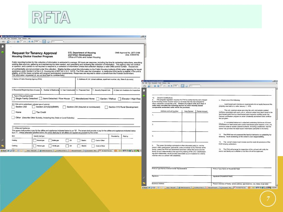 RFTA intake process HCVP WILL: