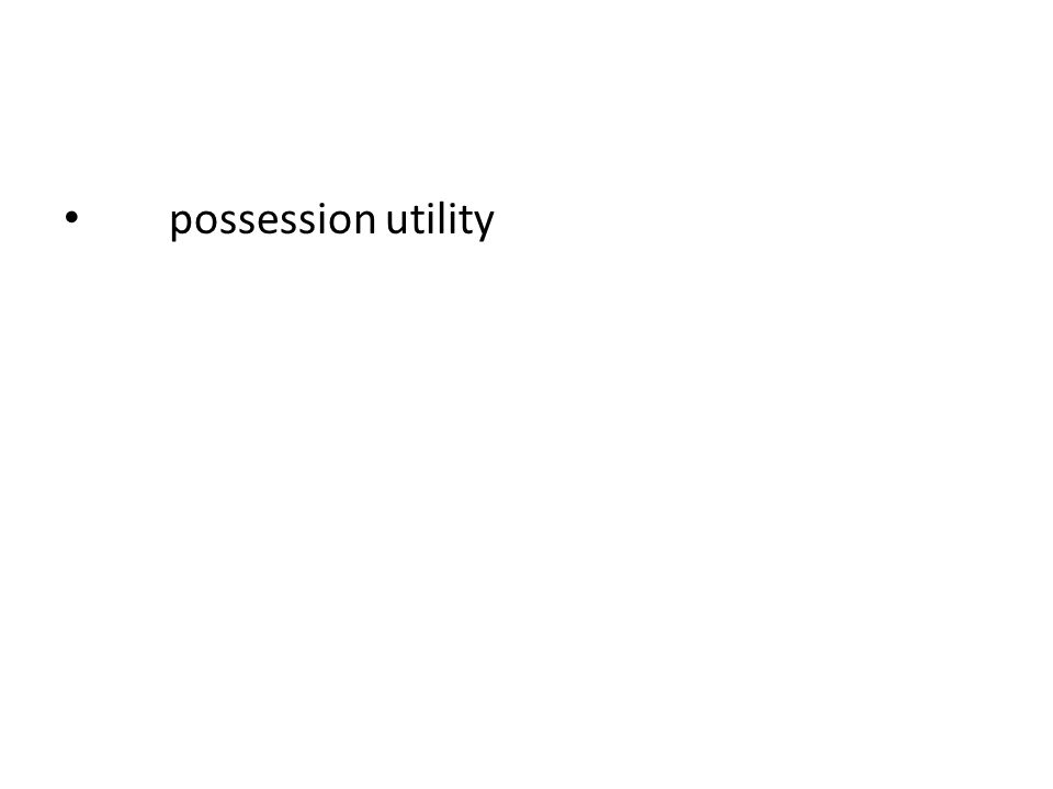possession utility