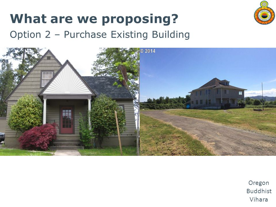 What are we proposing Option 2 – Purchase Existing Building