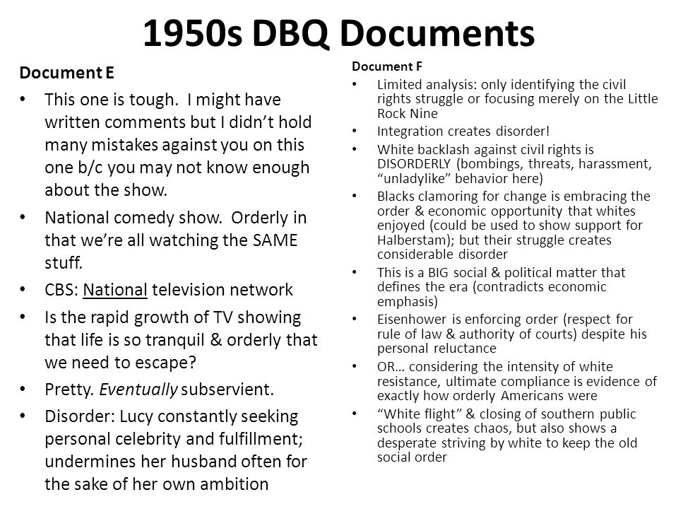 1950s DBQ Documents Document E