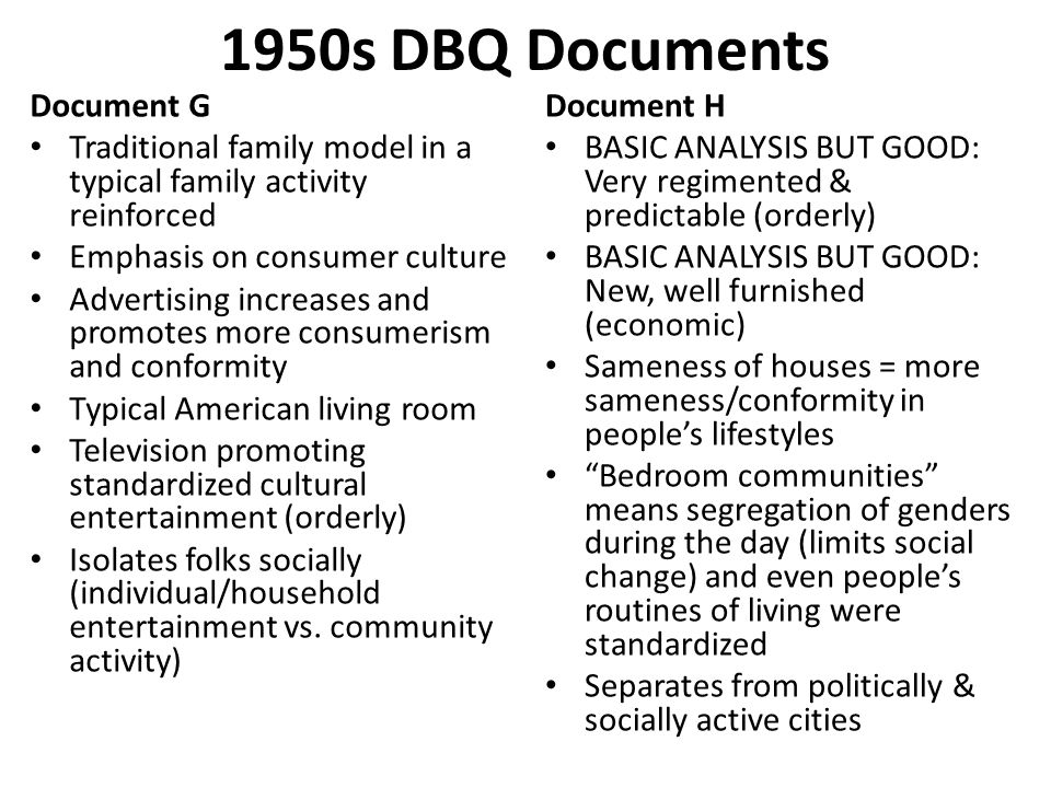 1950s DBQ Documents Document G