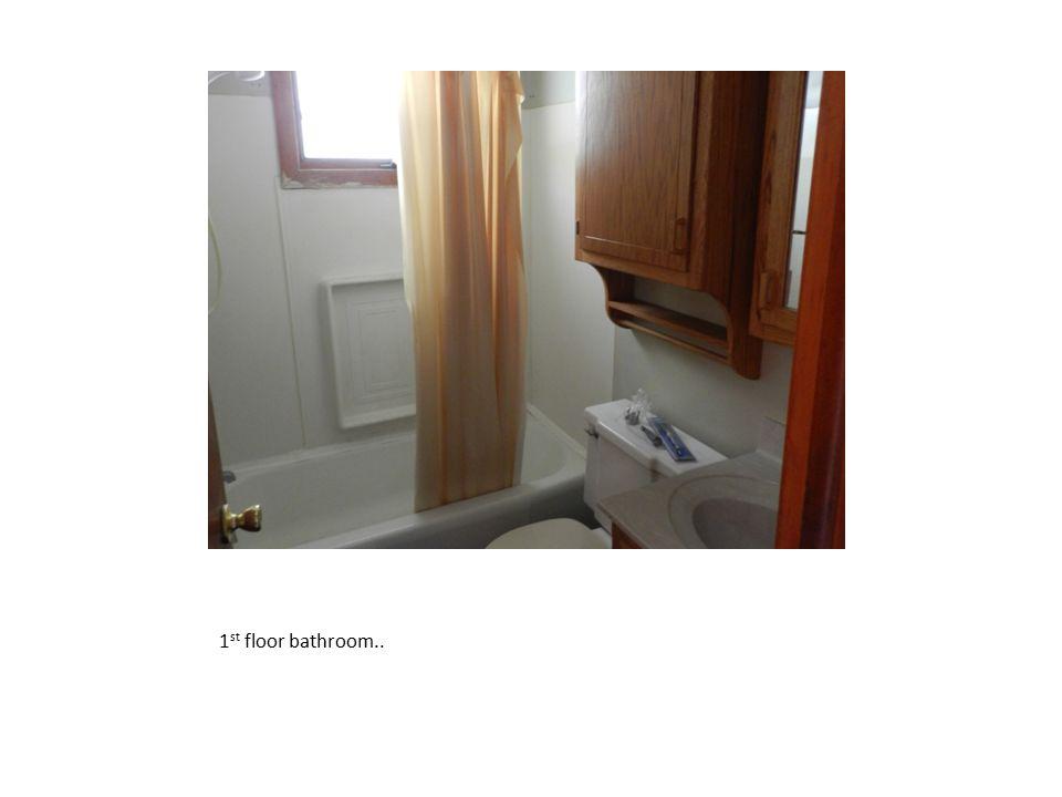 1st floor bathroom..