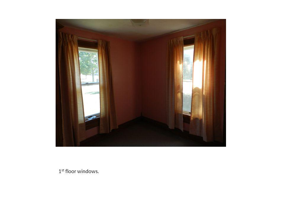 1st floor windows.