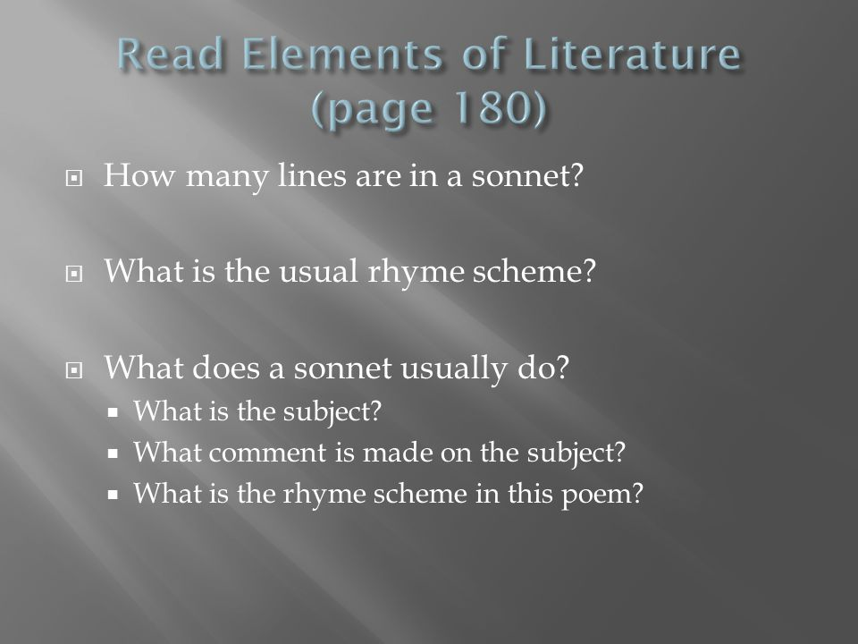 Read Elements of Literature (page 180)