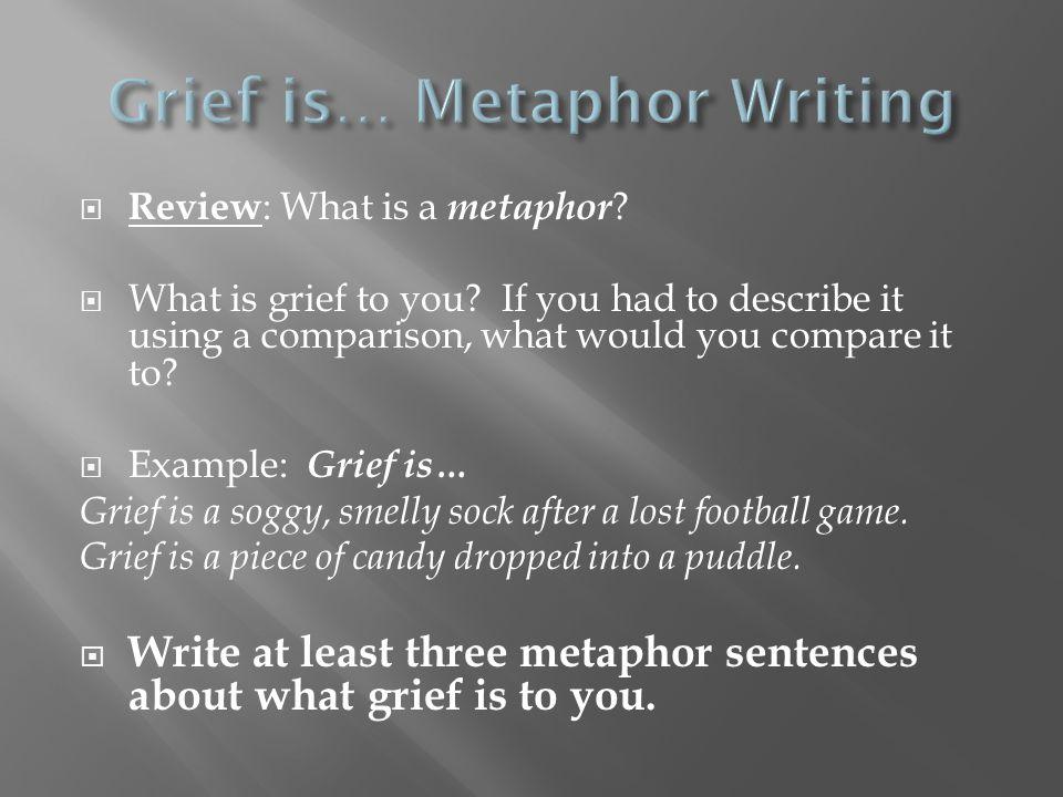 Grief is… Metaphor Writing