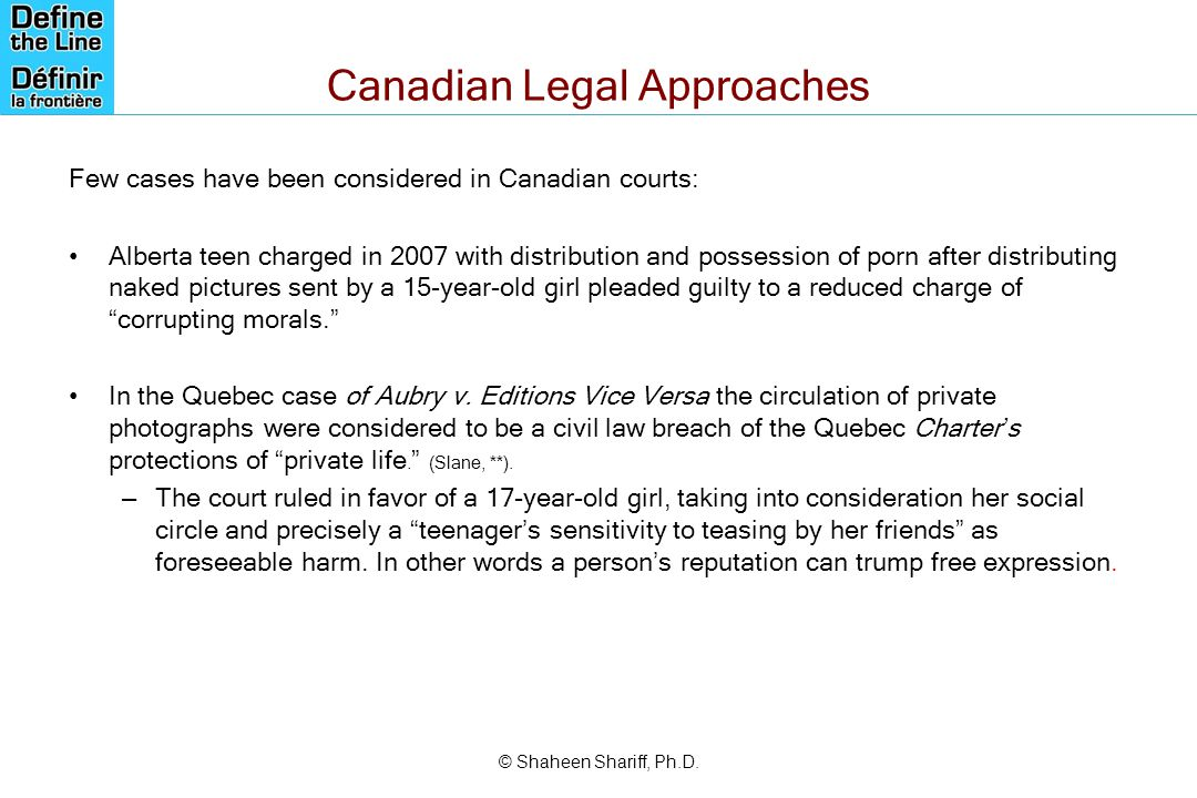 Canadian Legal Approaches