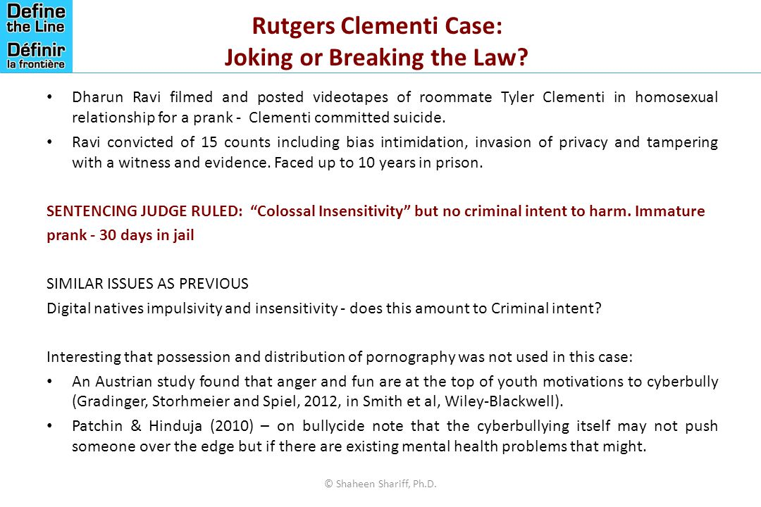 Rutgers Clementi Case: Joking or Breaking the Law