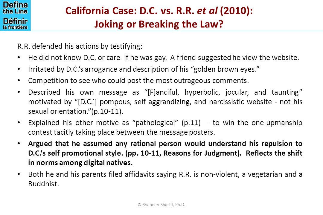 California Case: D. C. vs. R. R