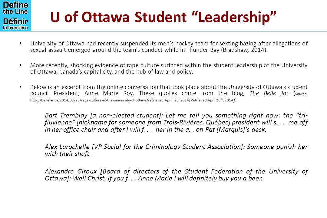 U of Ottawa Student Leadership