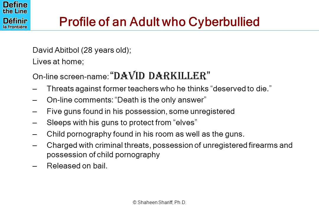 Profile of an Adult who Cyberbullied