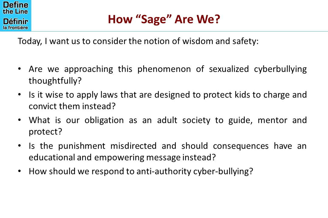 How Sage Are We Today, I want us to consider the notion of wisdom and safety: