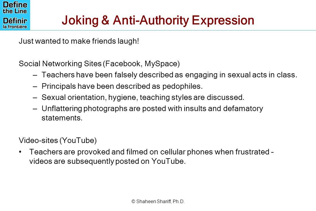 Joking & Anti-Authority Expression